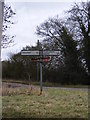 TM3765 : Roadsign opposite Trust Farm by Adrian Cable
