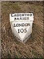 TF0732 : Laughton Parish Milepost by Ian Paterson