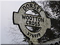 SY3795 : Wootton Fitzpaine: detail of Wootton Cross finger-post by Chris Downer