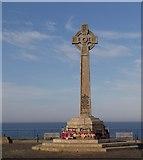 NZ4349 : Celtic Cross Cenotaph by Carol Bleasdale