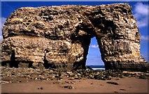 NZ4064 : Marsden Rock in 1990 by Steve Daniels