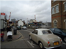 TQ2075 : Level crossing, Mortlake by Stacey Harris