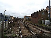 TQ2075 : Railway line, Mortlake by Stacey Harris