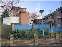 TQ2785 : Belsize Park deep shelter (north) behind Allingham Court, NW3 (2) by Mike Quinn