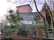 TQ2785 : Belsize Park deep shelter (north) behind Allingham Court, NW3 (3) by Mike Quinn