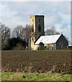 TG0336 : The church of All Saints in Sharrington by Evelyn Simak