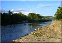 NN9357 : Footbridge over the River Tummel by John MacKenzie