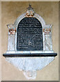 TG2536 : St James' church in Southrepps - C18 memorial by Evelyn Simak