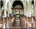 TG2439 : St Mary's church in Northrepps - view east by Evelyn Simak