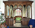 TG2439 : St Mary's church in Northrepps - C15 rood screen by Evelyn Simak