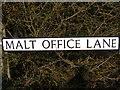 TM3481 : Malt Office Lane sign by Geographer