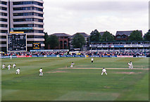 SK5838 : Trent Bridge Cricket Ground: view from the old Parr Stand, 1998 by John Sutton