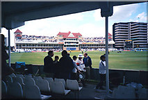 SK5838 : Trent Bridge Cricket Ground: the Radcliffe Road Stand when new - 1 by John Sutton