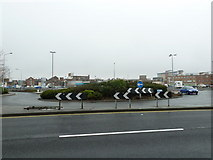 SU6400 : Looking over a roundabout towards the Cascades car park by Basher Eyre