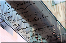 """J3574 : """"Signatures"""" sign, Public Records Office for Northern Ireland by Albert Bridge"""