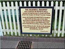TQ4023 : Sheffield Park, Bluebell Railway Placard by Helmut Zozmann