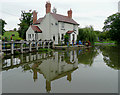 SP0274 : Canalside cottage south-west of Hopwood, Worcestershire by Roger  Kidd