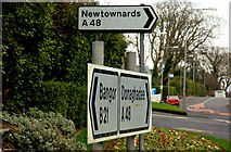 J5880 : Direction signs, Donaghadee by Albert Bridge