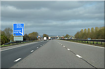 ST0207 : M5 near Cullompton by Andrew Hackney