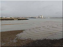 SU4208 : Ripples on the shore at Hythe by Oliver Dixon