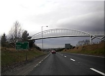 NJ0459 : Footbridge over the A96, Forres by Peter Bond
