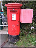 TM2649 : Post Office 1 Hasketon Road  Postbox by Geographer