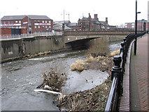 SK4293 : Rotherham - Bridge Street bridge over River Don by Dave Bevis