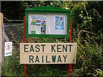 TR2548 : East Kent Railway - Shepherdswell Bulletin Board by Helmut Zozmann