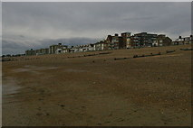 TQ7306 : Bexhill-on-Sea: West Parade from the beach by Christopher Hilton