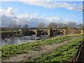 SJ3845 : The old bridge from St Dunawd's churchyard by John S Turner