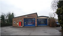SO4382 : Craven Arms Fire station by N Chadwick