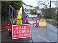 SX9065 : Teignmouth Road closed, Torquay by Derek Harper