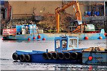 J3473 : Dredging the River Lagan, Belfast 2010-11 (134) by Albert Bridge