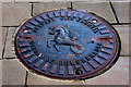 J3374 : Garden of Remembrance manhole cover, Belfast by Albert Bridge
