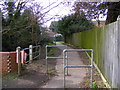 TM3863 : Path to Deben Road by Adrian Cable