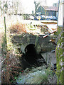 TF9629 : Langor Bridge railway station -  culverted ditch by Evelyn Simak