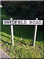 TM2650 : Bredfield Road sign by Geographer