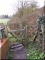 TM3863 : Footpath gate on the  footpath to Clay Hills by Geographer