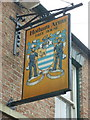 SE8934 : The sign for the Hotham Arms, Hotham by Ian S