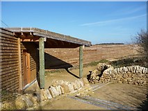 SE2779 : New hide and screen, Nosterfield Local Nature Reserve by Christine Johnstone