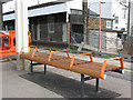 TQ3468 : Seat at Norwood Junction station by Stephen Craven