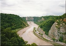 ST5673 : Junction of Portway and Bridge Valley roads in the Avon Gorge by peter robinson