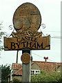 SK9818 : Village sign, close up, Castle Bythem by Bob Harvey