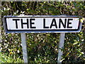 TM3869 : The Lane sign by Adrian Cable