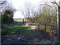 TM3769 : Footpath to A1120 Yoxford Road & Green Road by Adrian Cable