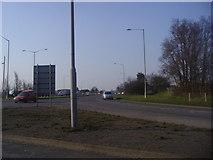 TQ0485 : Denham exit, Denham roundabout by David Howard