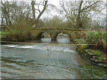 SO9559 : Shell Ford and foot bridge by Chris Allen