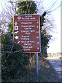 TM3869 : Tourist roadsign on the A1120 Yoxford Road by Adrian Cable