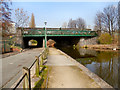 SJ7698 : Bridgewater Canal, Rail Bridge by David Dixon