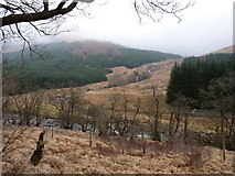 NN2316 : The valley of the Allt na Lairige by Richard Law
